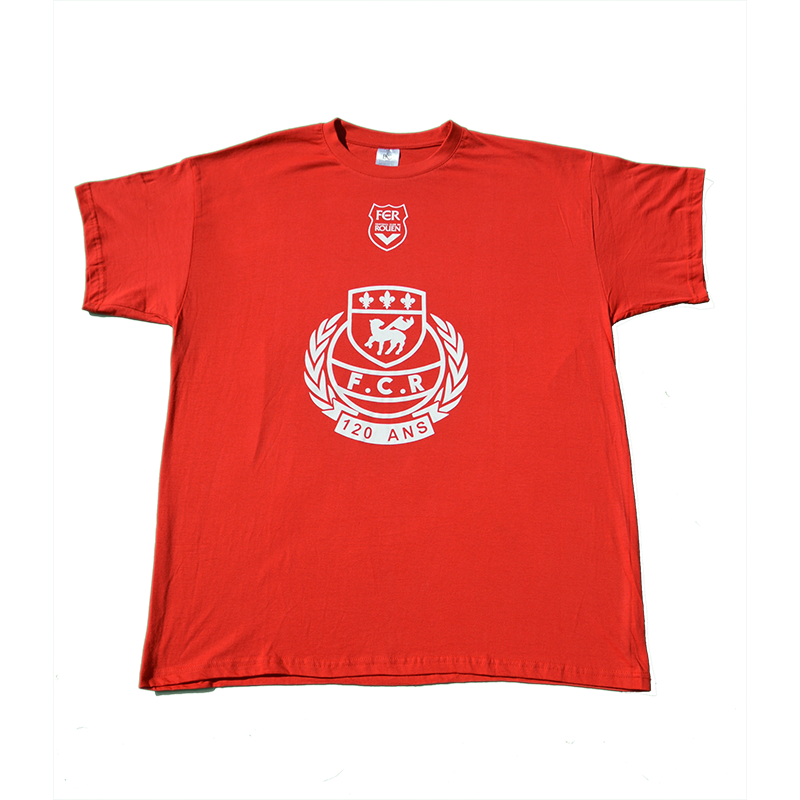Accueil, T-shirt 120 ans rouge, t-shirt-120-red-fcr, 12,00€